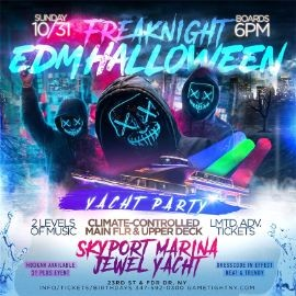 Image for Freaknight EDM Halloween Yacht Party At Jewel Yacht