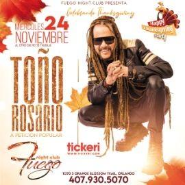 Image for Toño Rosario en Vivo ! ORLANDO FL