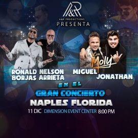 Image for RONALD BORJAS & NELSON ARRIETA, LOS MOLY ( MIGUEL & JONATHAN ) EN VIVO ! NAPLES FLORIDA