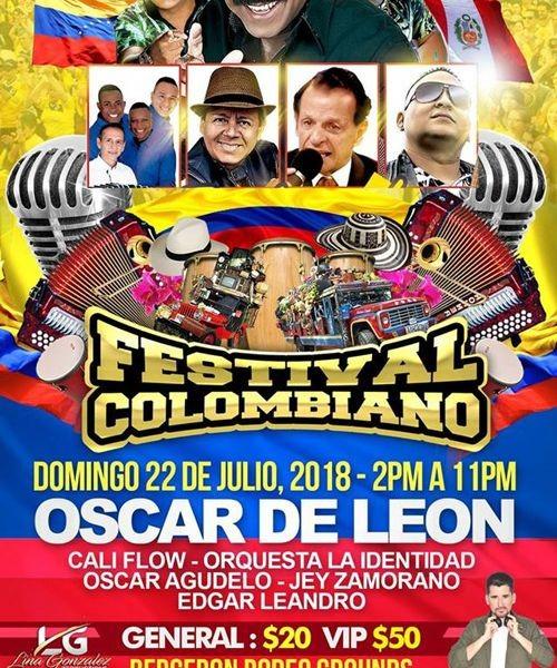 Festival Colombiano Con Oscar D Leon Cali Flow Y Mucho