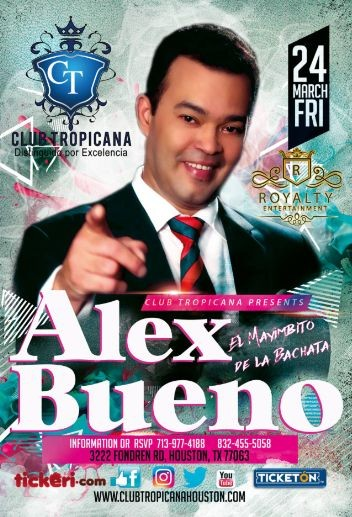 Alex bueno tickeri latino tickets latin tickets for Alex bueno jardin prohibido