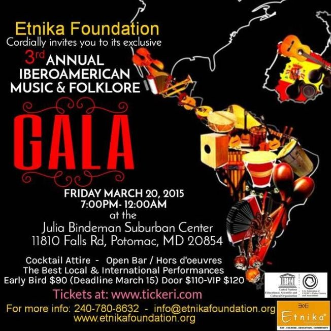 Flyer for 3rd IBEROAMERICAN MUSIC & FOLKLORE GALA