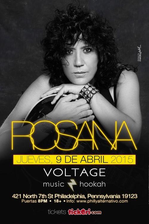 Flyer for Rosana en Philadelphia (NUEVA FECHA)