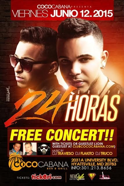 Flyer for 24 Horas en Maryland