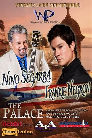 Flyer for Nino Segarra y Frankie Negron en Virginia