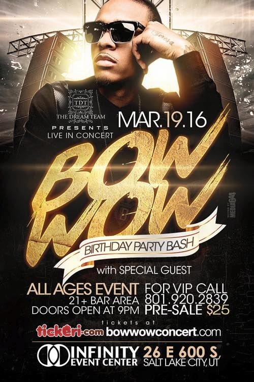 Flyer for Bow Wow in Salt Lake City