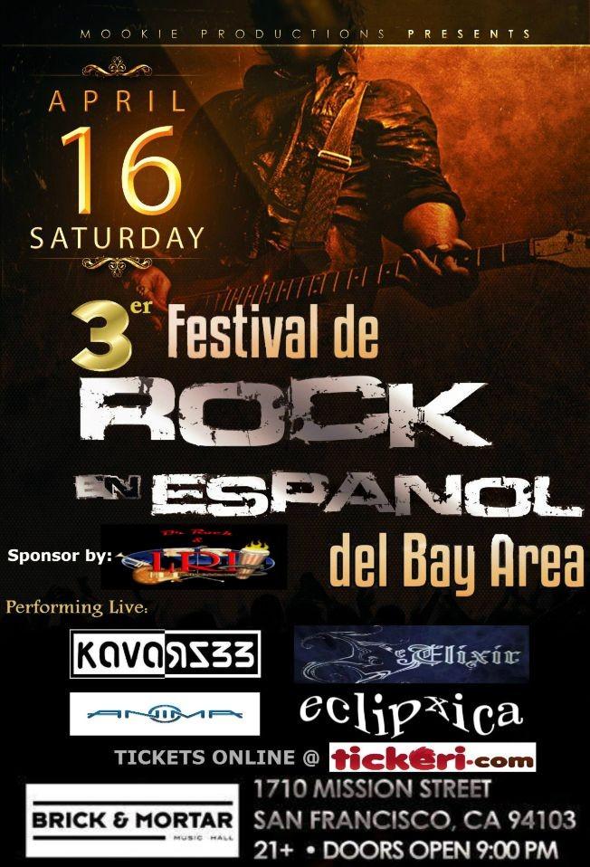 Flyer for 3er FESTIVAL DE ROCK EN ESPAÑOL DEL BAY AREA