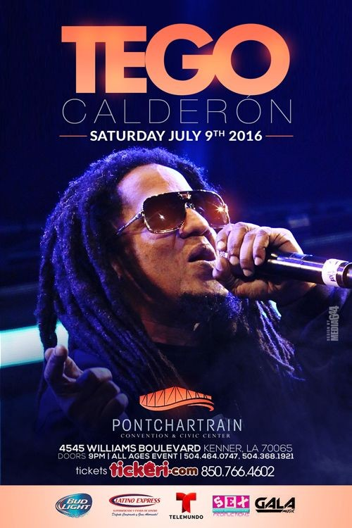 Flyer for Tego Calderon