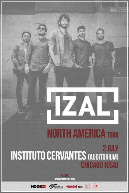 Flyer for Izal en Concierto