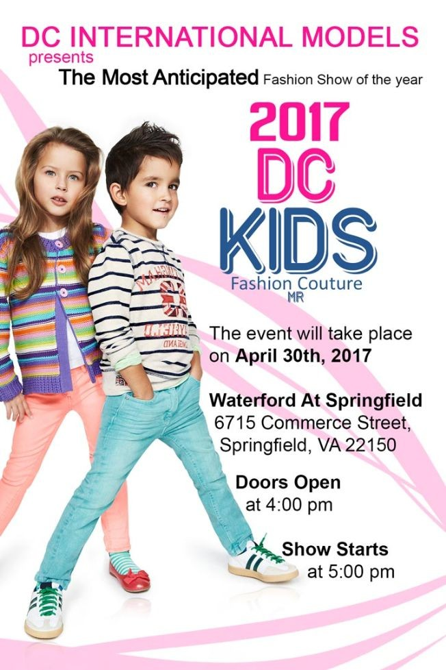 Flyer for DC KIDS FASHION COUTURE 2017