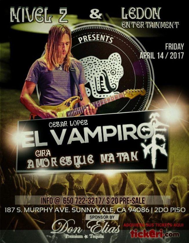 Flyer for Cesar el Vampiro en Sunnyvale CA