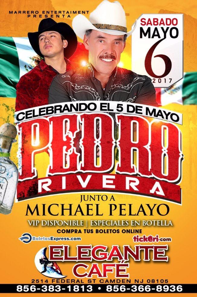 Flyer for Pedro Rivera en Camden,NJ