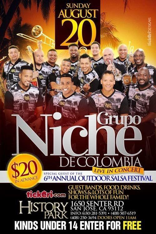 Flyer for Grupo Niche en Concierto