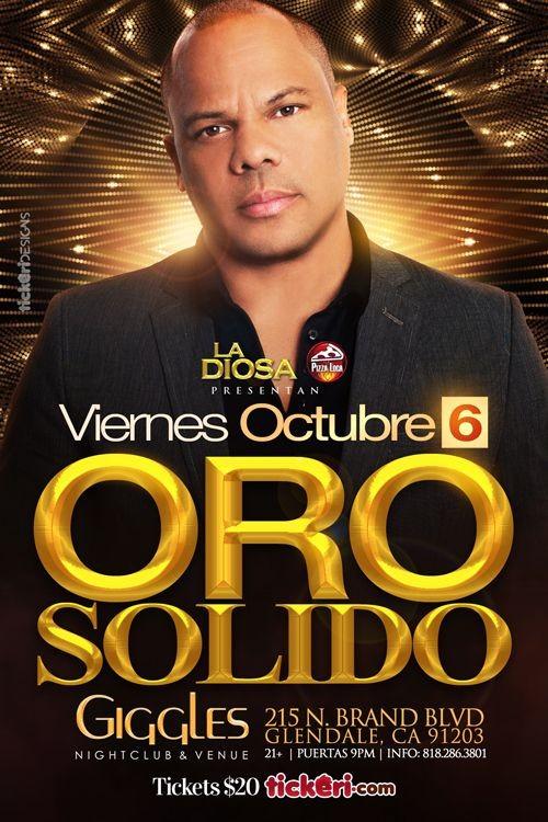 Flyer for ORO SOLIDO EN LOS ANGELES