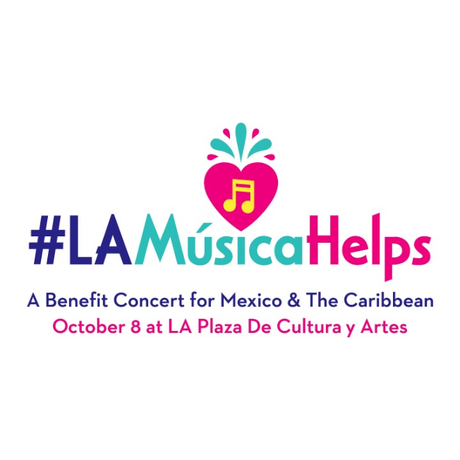 Flyer for #LAMÚSICAHELPS: A Benefit Relief Concert for Mexico & the Caribbean   -- Tickets Still Available at Door