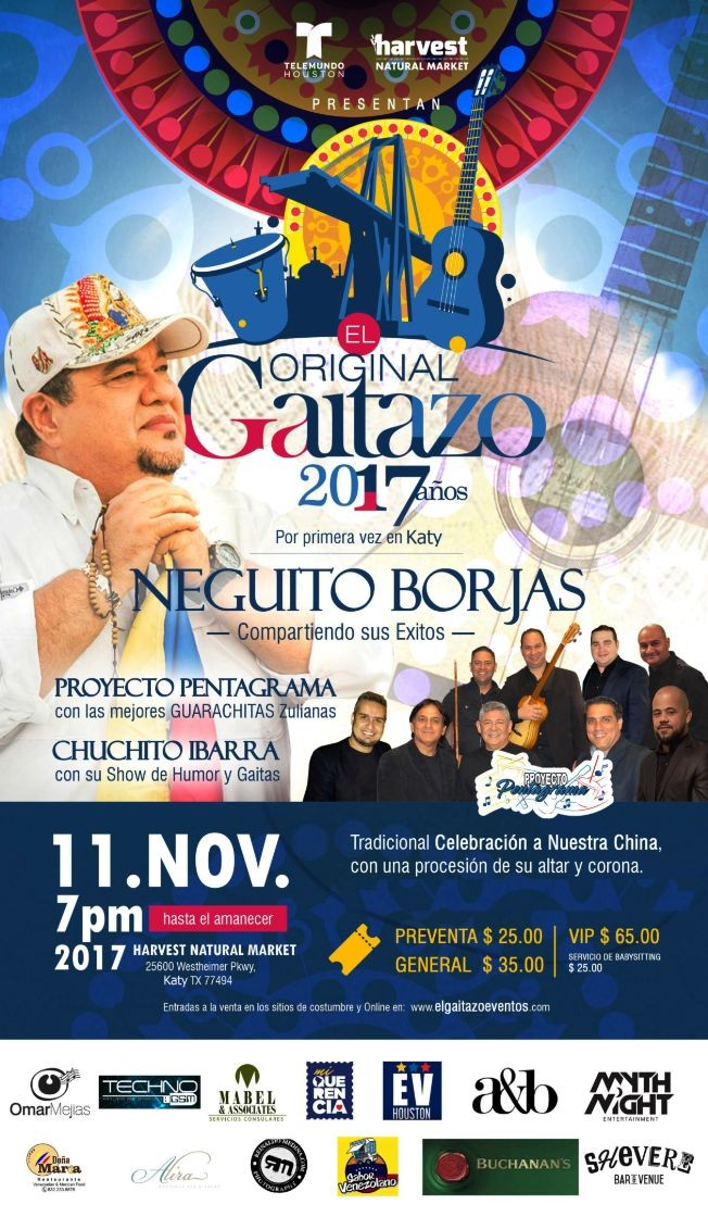 Flyer for EL GAITAZO 2017 en KATY