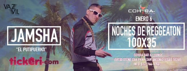 Flyer for Noches de Reggaeton 100 x 35 - JAMSHA