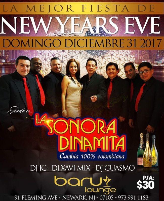Flyer for SONORA DINAMITA EN NJ