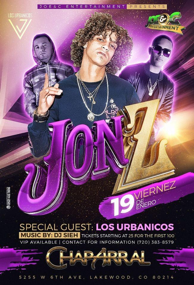 Flyer for Jon z live