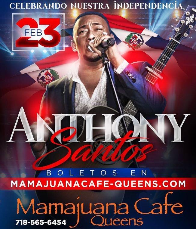 Flyer for Anthony Santos Live @ Mamajuana Cafe-CANCELLED