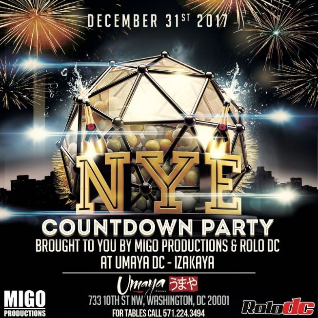 Flyer for NYE Countdown