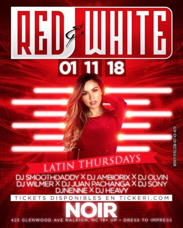 Flyer for Red & White Affair in Raleigh,NC