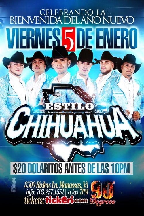Flyer for Estilo Chihuahua en Manassas VA