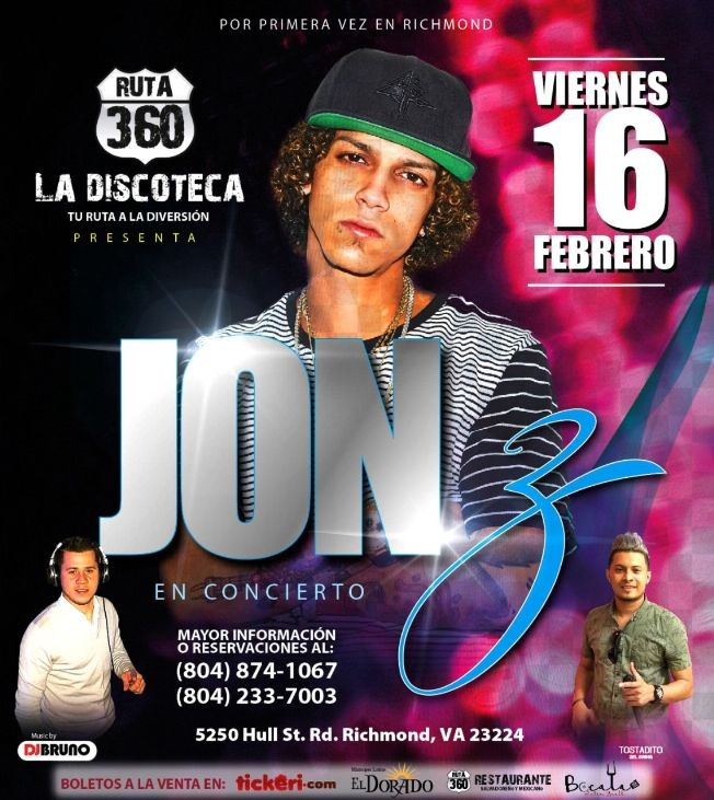 Flyer for Jon Z en Richmond,VA
