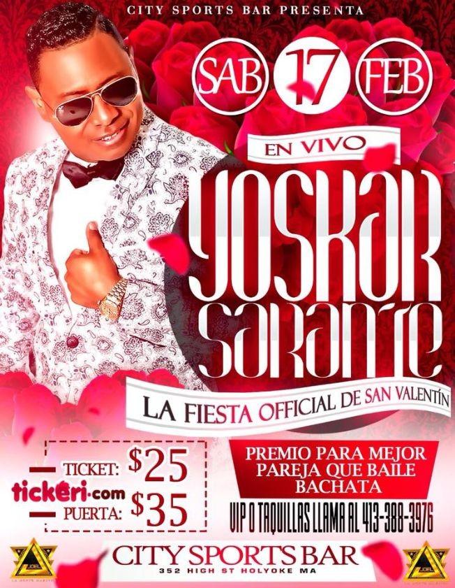 Flyer for YOSKAR SARANTE