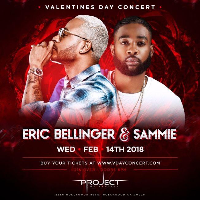 Flyer for Eric Bellinger & Sammie Live - Valentines Day Concert