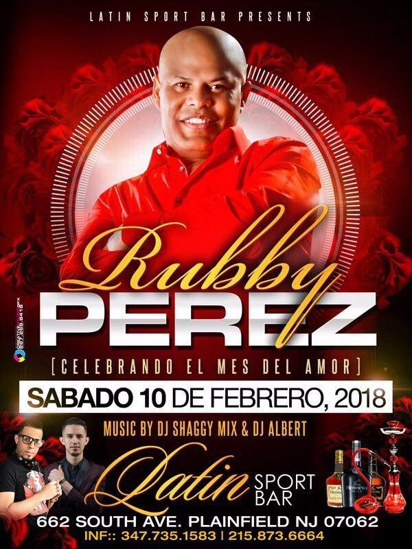 Flyer for Rubby Perez en Plainfield NJ
