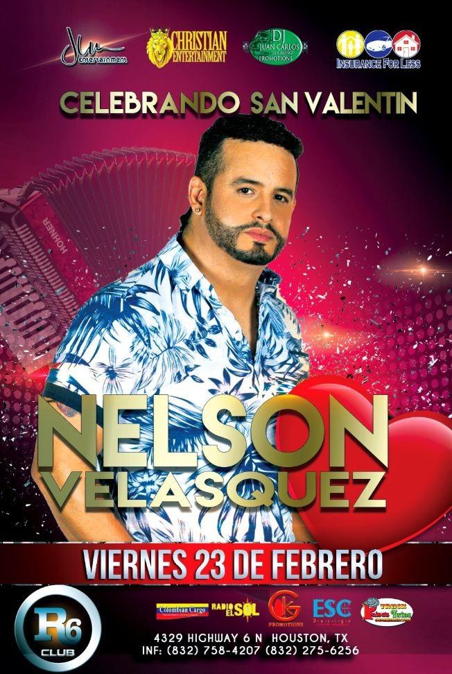 Flyer for Nelson Velasquez en Houston,TX