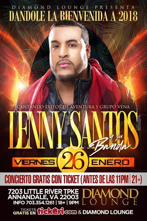 Flyer for Lenny Santos en Annandale,VA