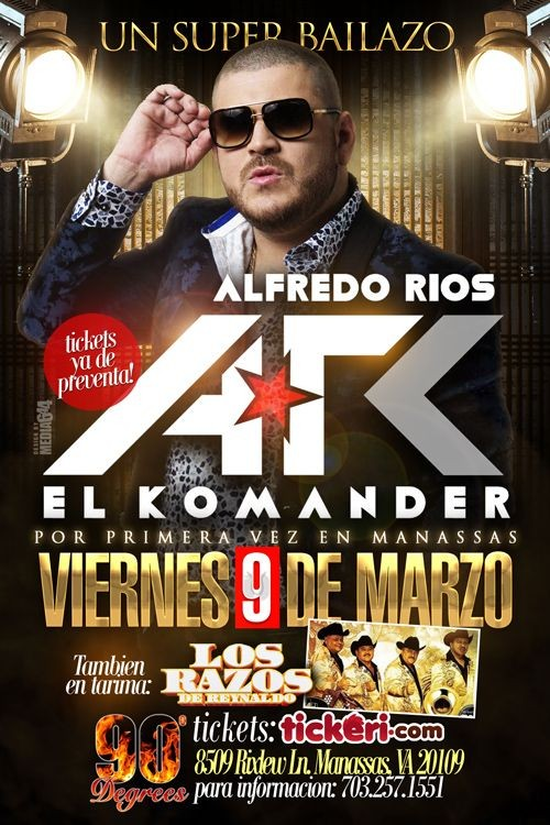 Flyer for El Komander en Manassas,VA