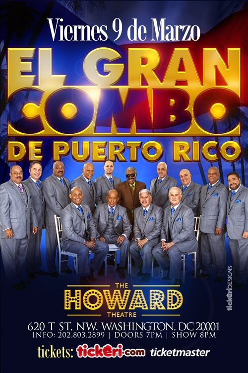 Flyer for El Gran Combo de Puerto Rico en Washington DC