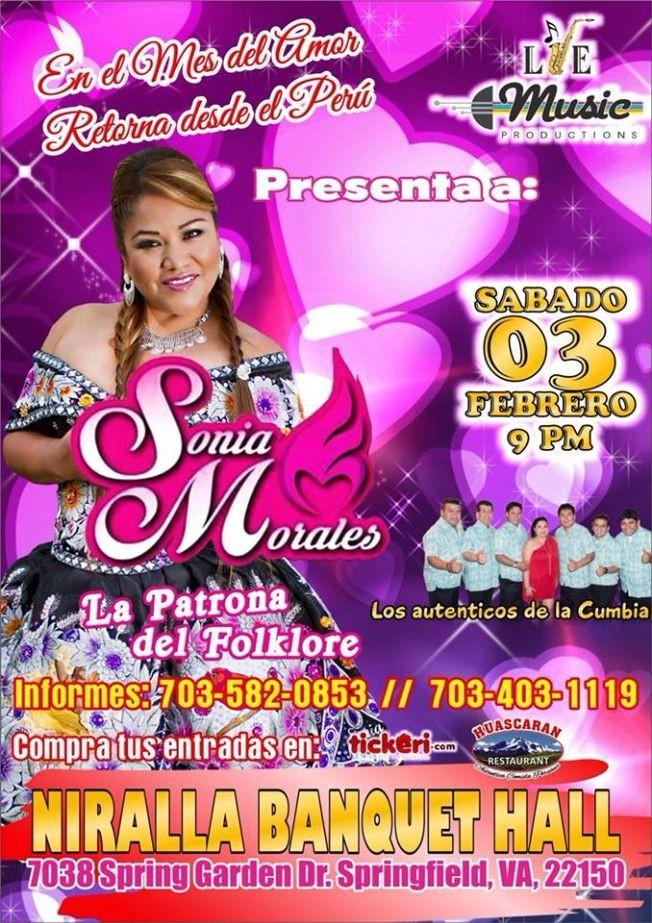 Flyer for Sonia Morales en Springfield,VA