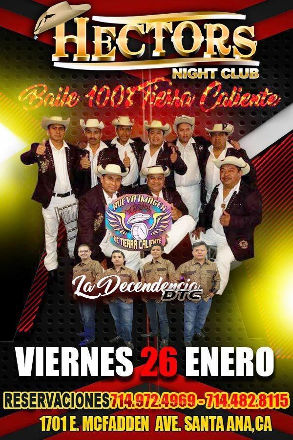 Flyer for VIERNES 100% TIERRA CALIENTE!