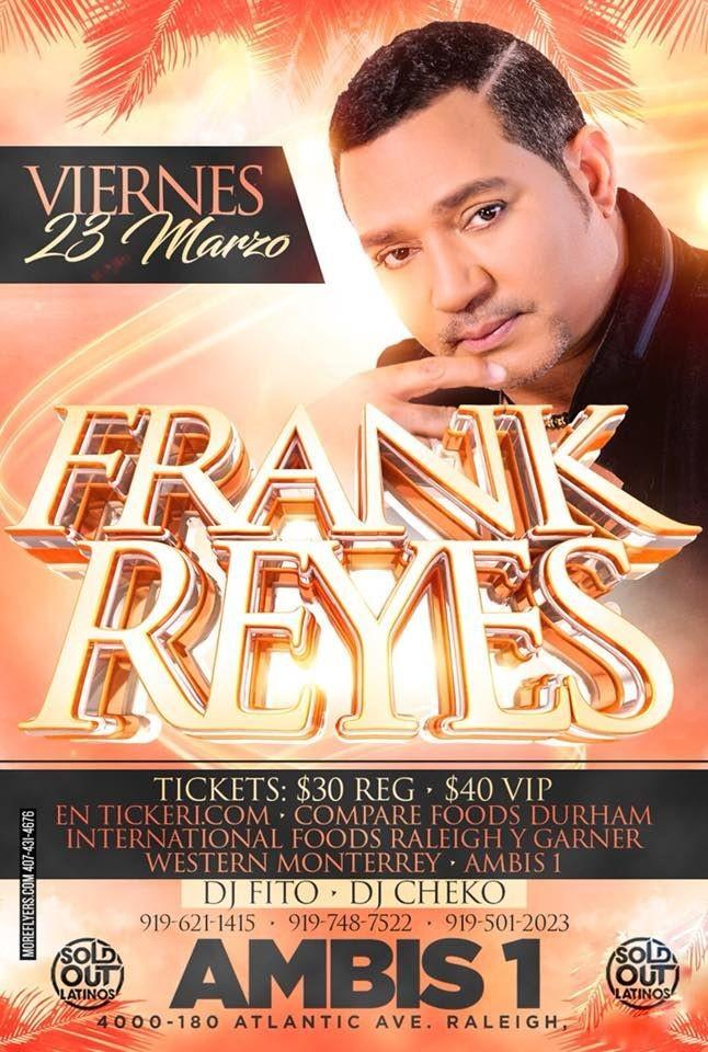 Flyer for Frank Reyes en Raleigh,NC