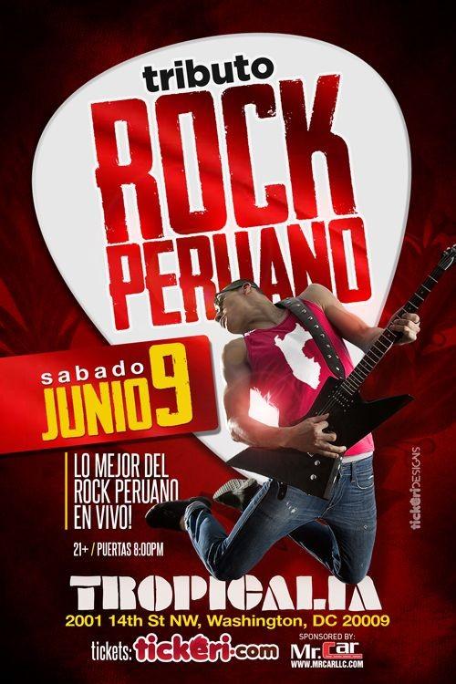 Flyer for Tributo al Rock Peruano en VIVO Washington DC