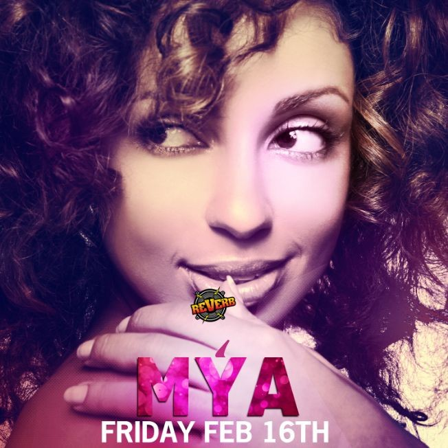 Flyer for Mya - Live in Reading