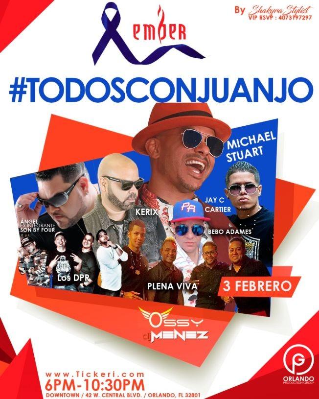 Flyer for #todosconJuanJo