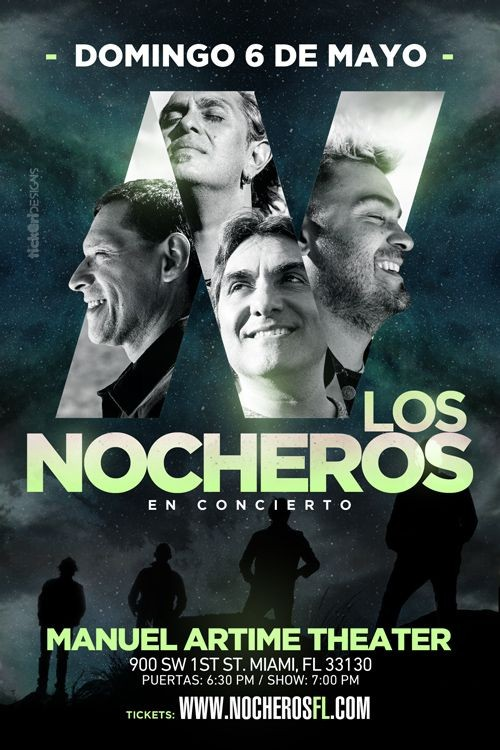 Flyer for Los Nocheros en Miami