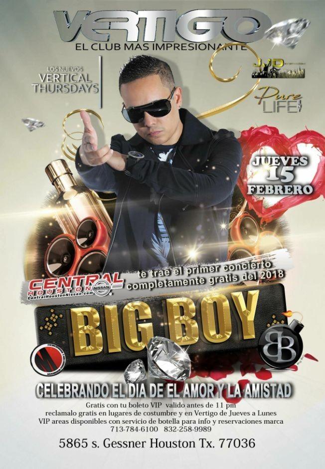 Flyer for BIG BOY ( Valido antes de las 11pm 21+)