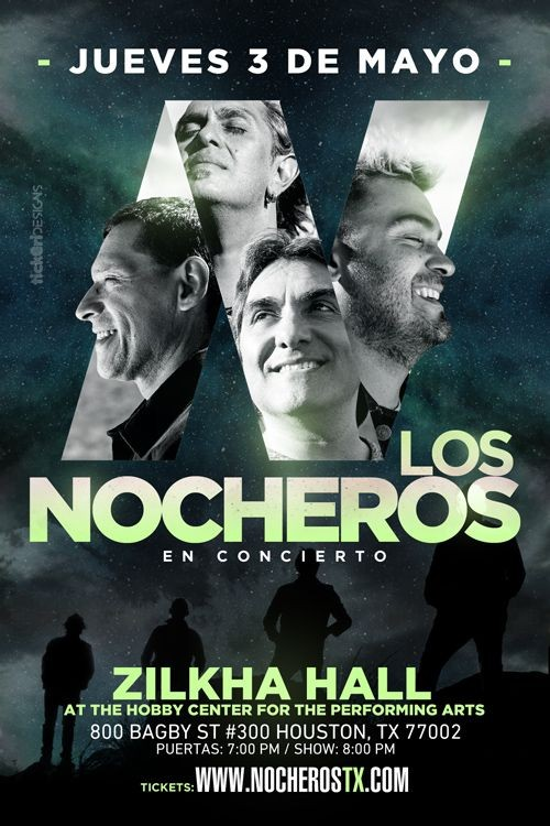Flyer for Los Nocheros en Houston