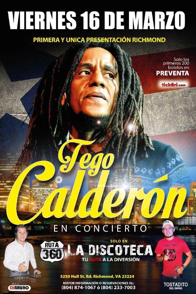Flyer for Tego Calderon en Concierto