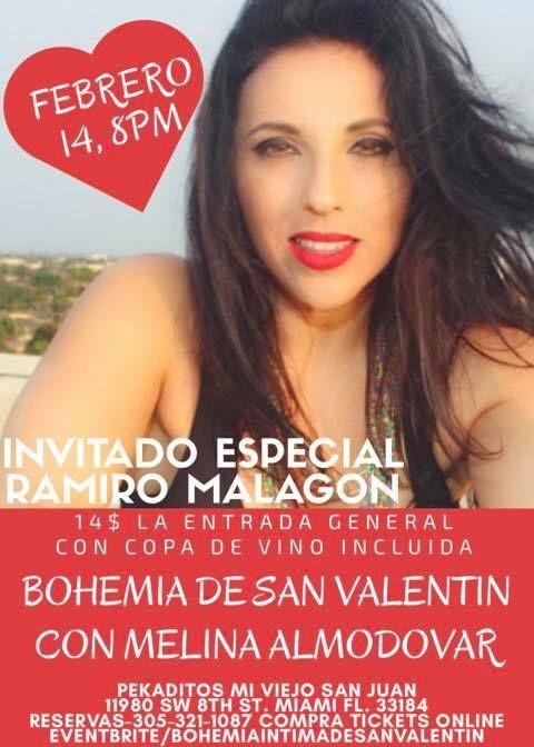 "Flyer for Bohemia Romantica con ""La Muneca de la Salsa"""