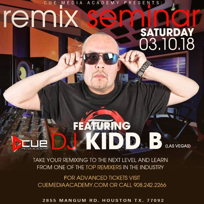 Flyer for Houston REMIX Seminar | Featuring Dj Kidd B