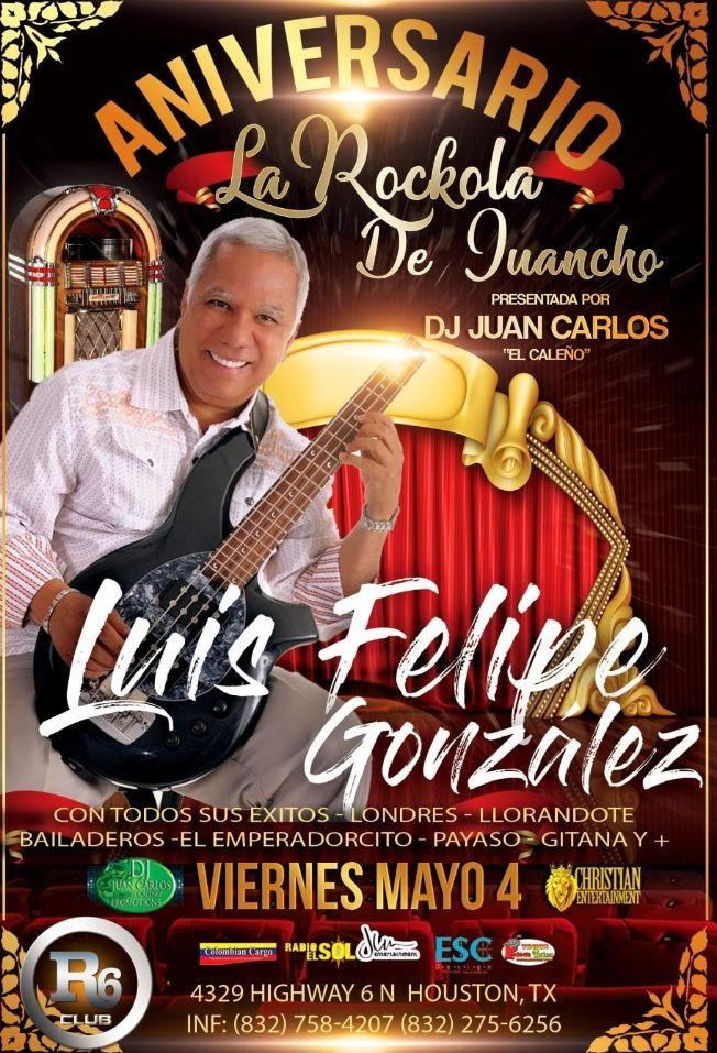Flyer for Luis Felipe Gonzalez