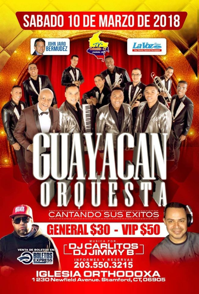 Flyer for Guayacan Orquesta