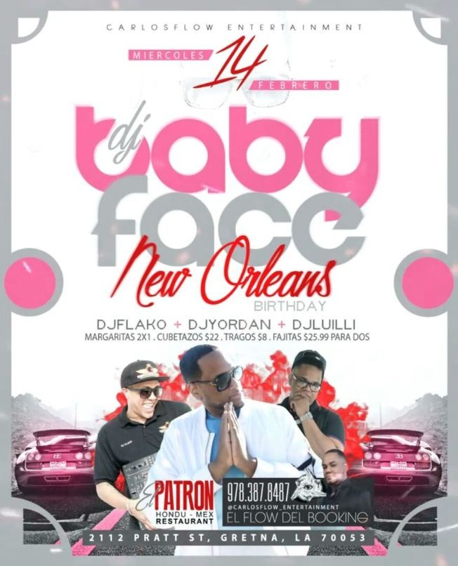 Flyer for DJ Baby Face